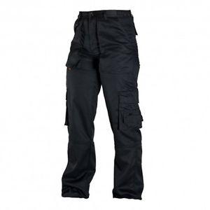 Pantalon Cargo Gabardina Color Azul Y Negro Diprin